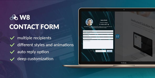 W8 Contact Form - WordPress Contact Form Plugin - CodeCanyon Item for Sale