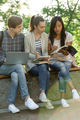 Multiethnic group of young concentrated students - PhotoDune Item for Sale