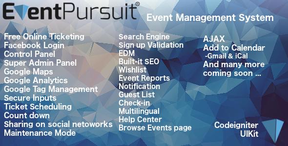 Event Pursuit - CodeCanyon Item for Sale