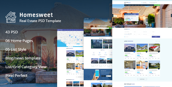 Homesweet - Real Estate PSD Template - Corporate PSD Templates
