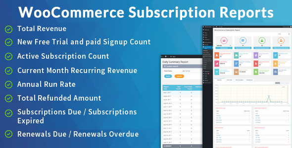 WooCommerce Subscription Report (WordPress)
