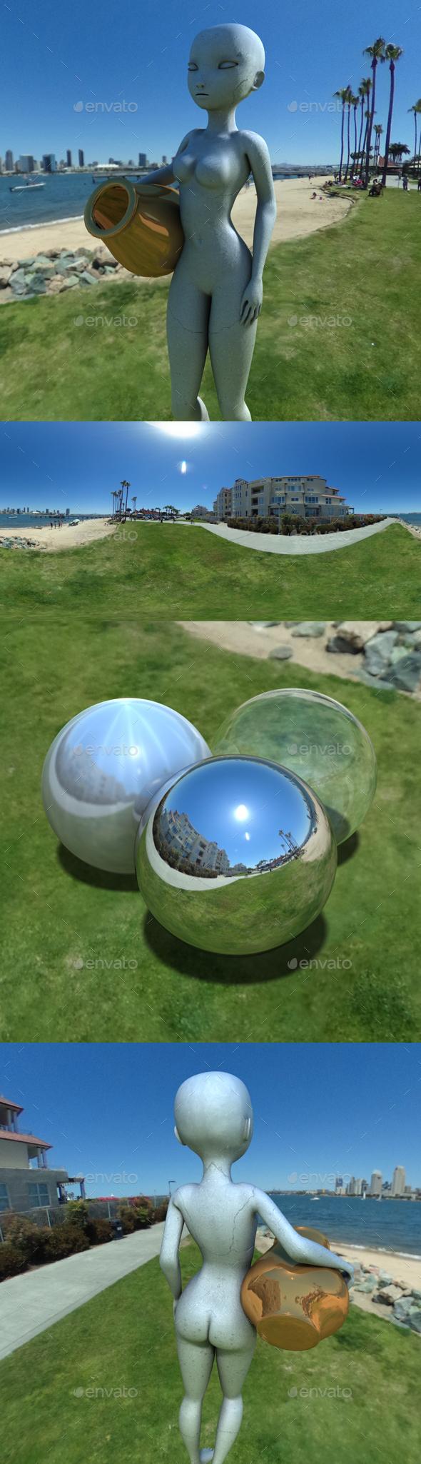 Coronado Waterfront Blue Sky HDRI - 3DOcean Item for Sale