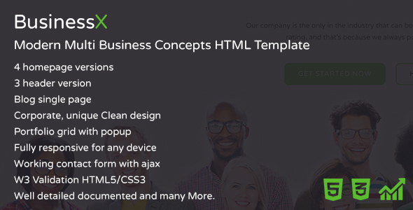Image of BusinessX - Modern Multi Business Concepts HTML Template