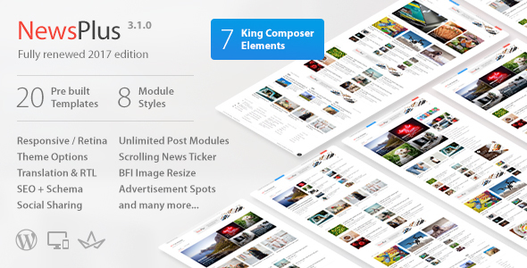 NewsPlus - News and Magazine WordPress theme - News / Editorial Blog / Magazine