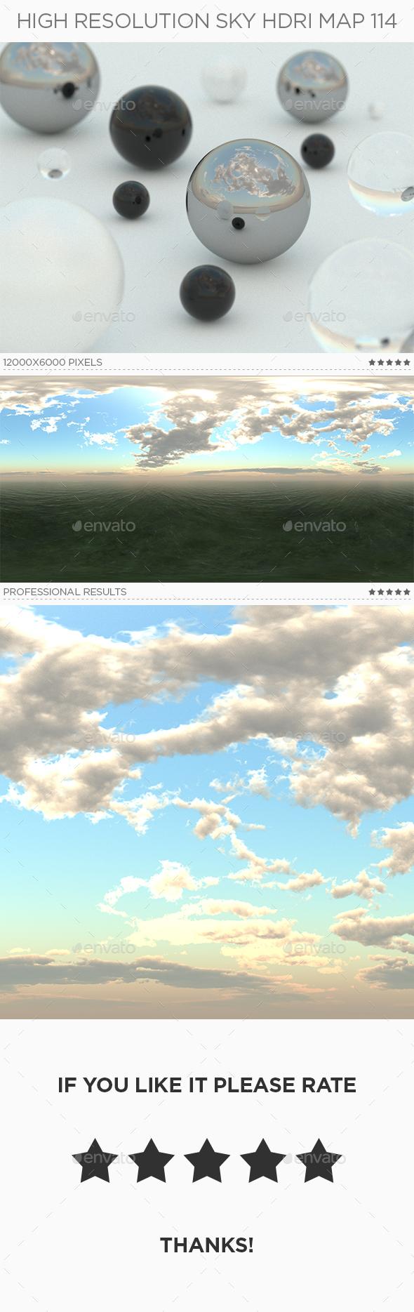 High Resolution Sky HDRi Map 114 - 3DOcean Item for Sale