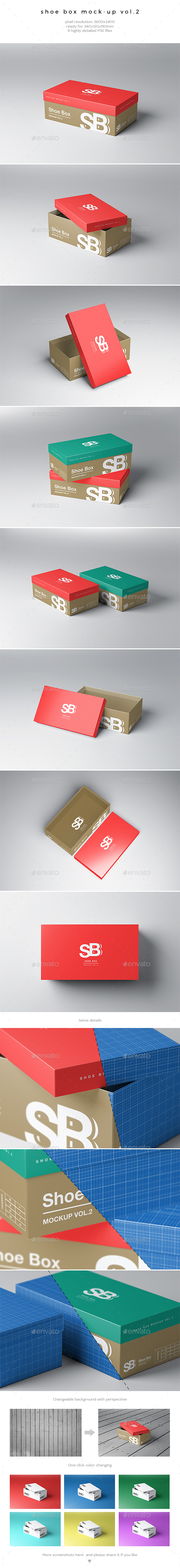 Shoe Box Mock-Up Vol.2 - Miscellaneous Packaging