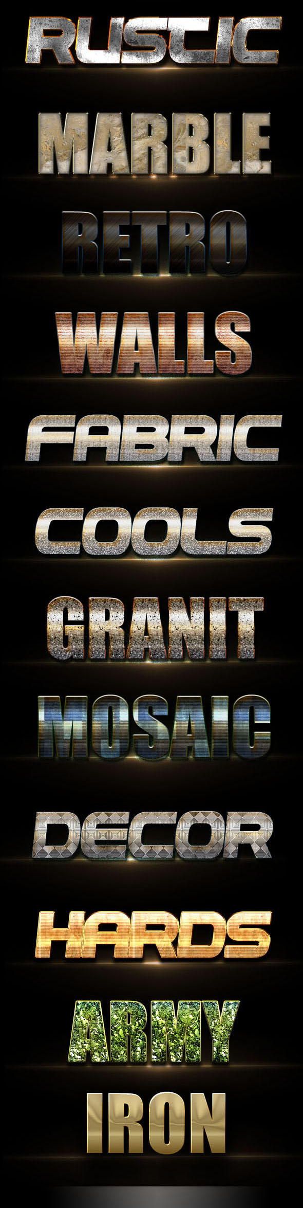 10 3D Text Styles D_4 - Styles Photoshop