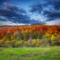 mountain autumn landscape with colorful forest - PhotoDune Item for Sale