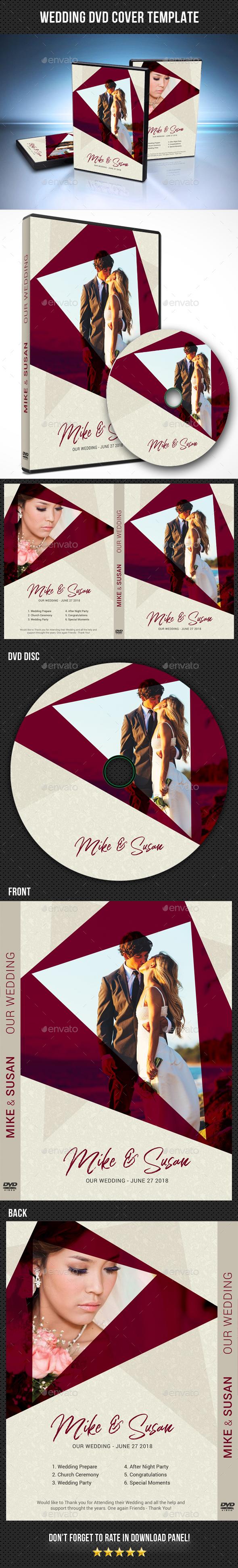 Wedding DVD Cover Template 24 - CD & DVD Artwork Print Templates