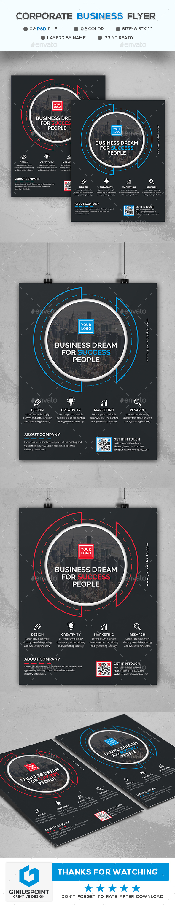 Corporate Business Flyer - Flyers Print Templates