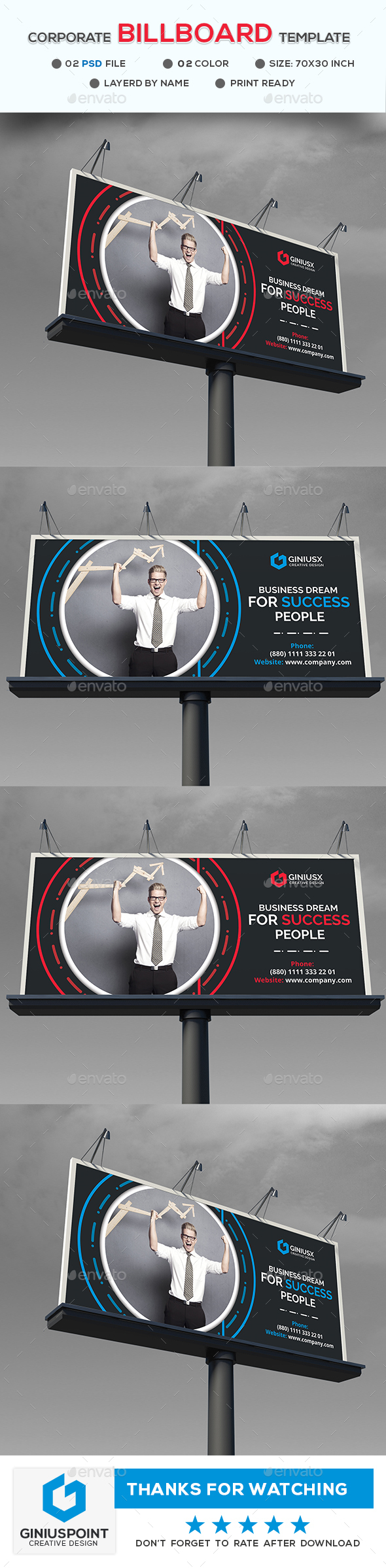 Corporate Business Billboard - Signage Print Templates
