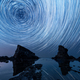 Star trails over the rock phenomenon The Ships (Bulgaria) - PhotoDune Item for Sale