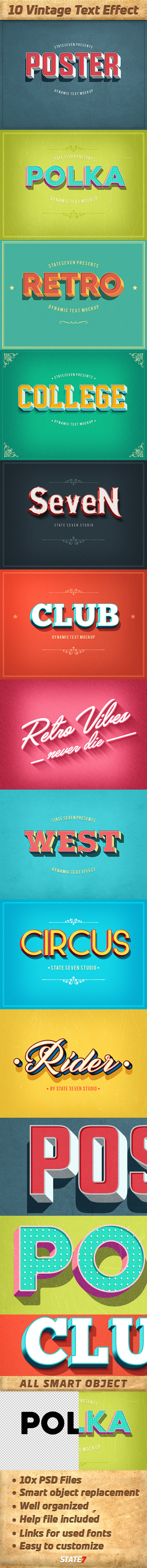 Vintage Text Effects Pack - Text Effects Actions