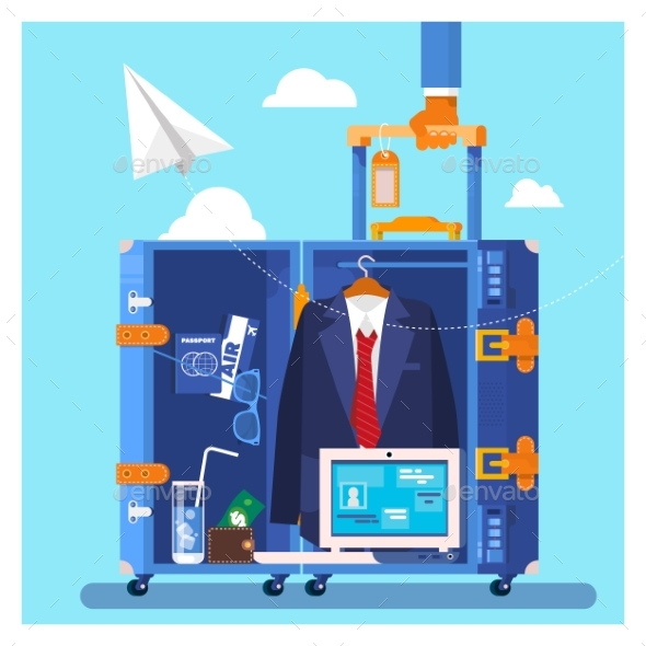 GraphicRiver Travel Business Trip Concept Businessman Holding 20403468