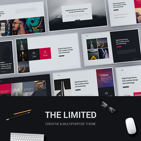 Limited - Creative & Modern Powerpoint Template - Creative PowerPoint Templates