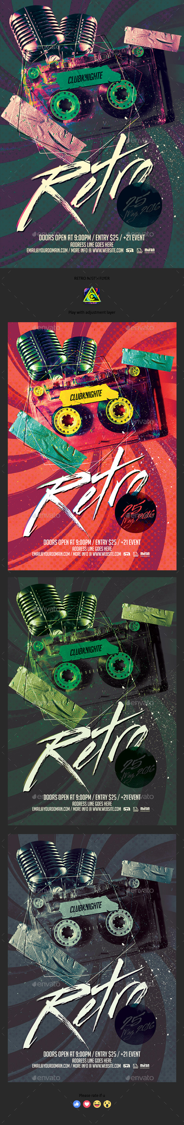 Retro Night Flyer - Clubs & Parties Events