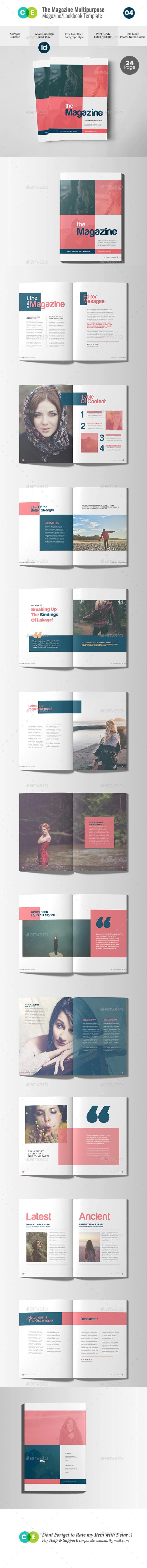 THE MAGAZINE | Multipurpose Magazine Lookbook V04 - Magazines Print Templates