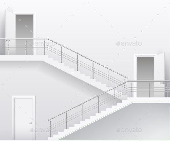 GraphicRiver Stairs and Doors 20403645