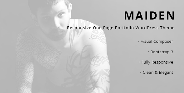 Maiden - Responsive One Page Portfolio WordPress Theme