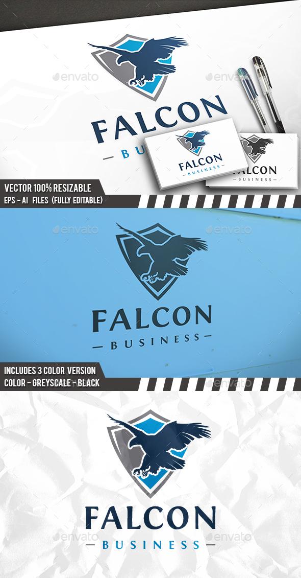 Falcon Shield Logo - Animals Logo Templates