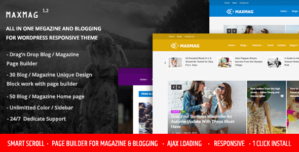 ThemeForest Maxmag Magazine and Blogging WordPress Theme 19254221