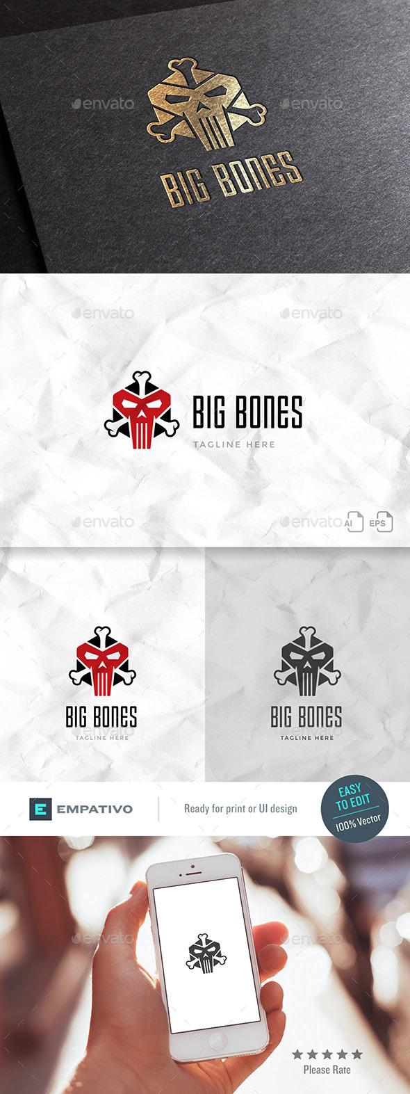 Big Bones Logo Template - Symbols Logo Templates