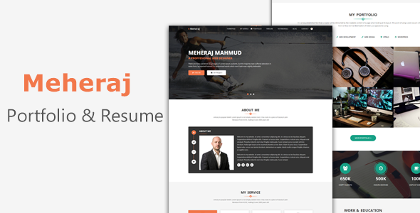Meheraj - Creative Personal Portfolio And Resume Template