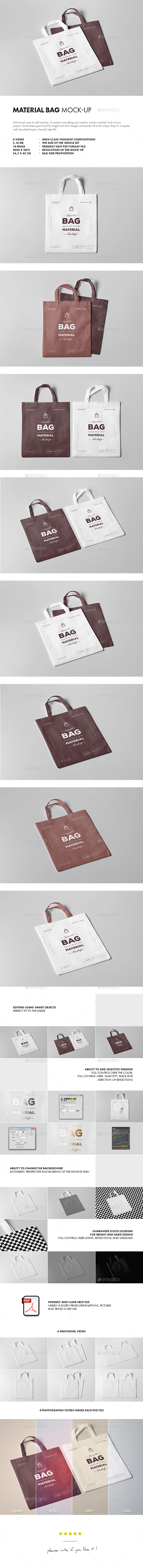 GraphicRiver Material Bag Mock-up 20403953
