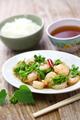 stir-fried Tonkin jasmin flowers and shrimp, vietnamese cuisine - PhotoDune Item for Sale