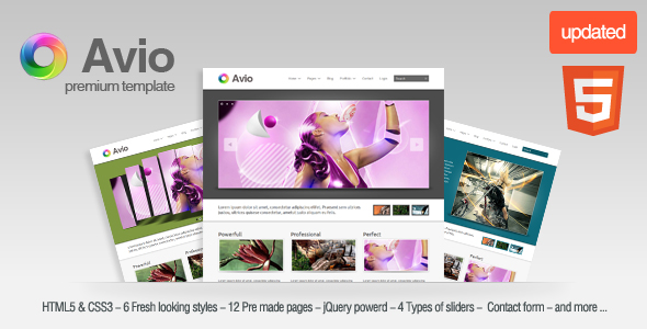 Free Download Avio a premium site template Nulled Latest Version