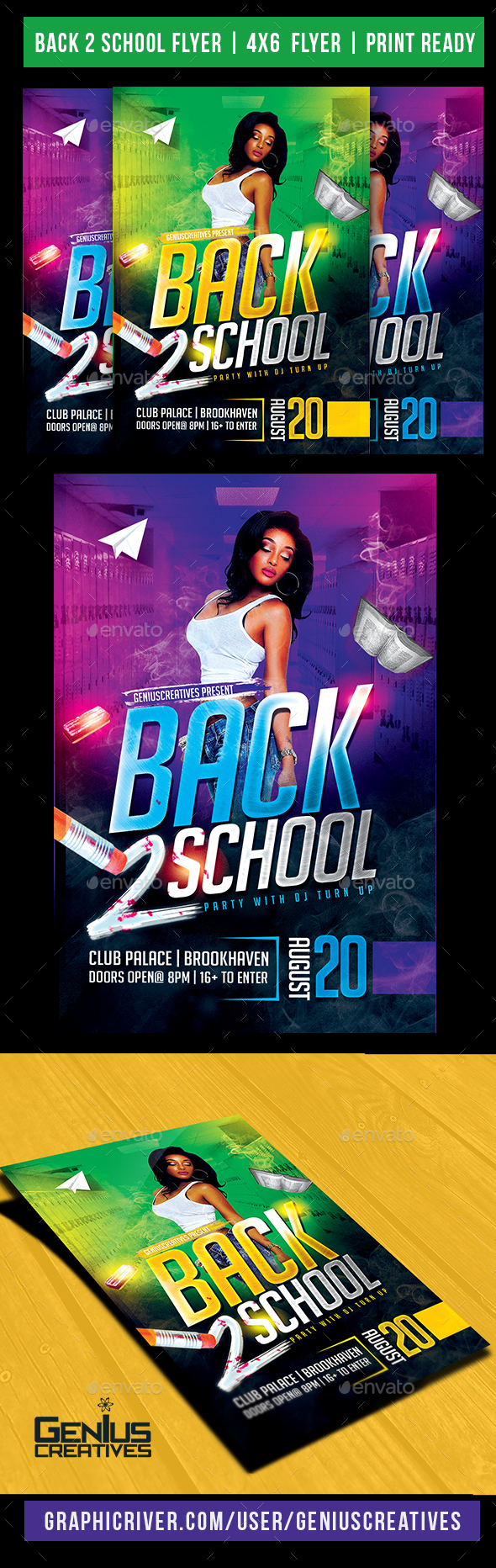 Back 2 School Party Flyer - Events Flyers