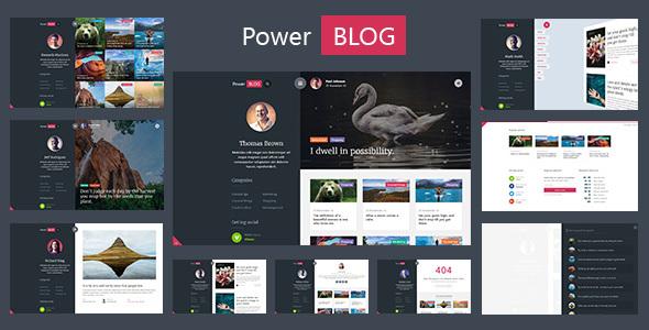 PowerBlog -Modern AJAX Blog Theme