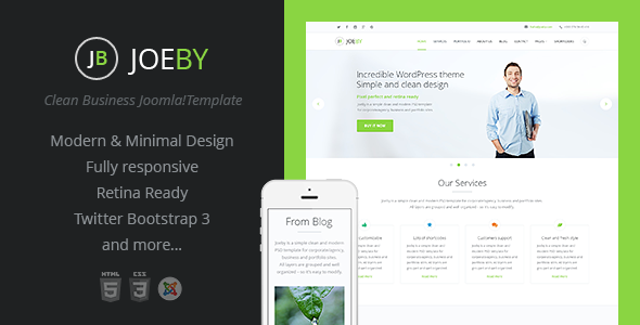 Joeby | Onepage Clean Business Joomla Template - Business Corporate