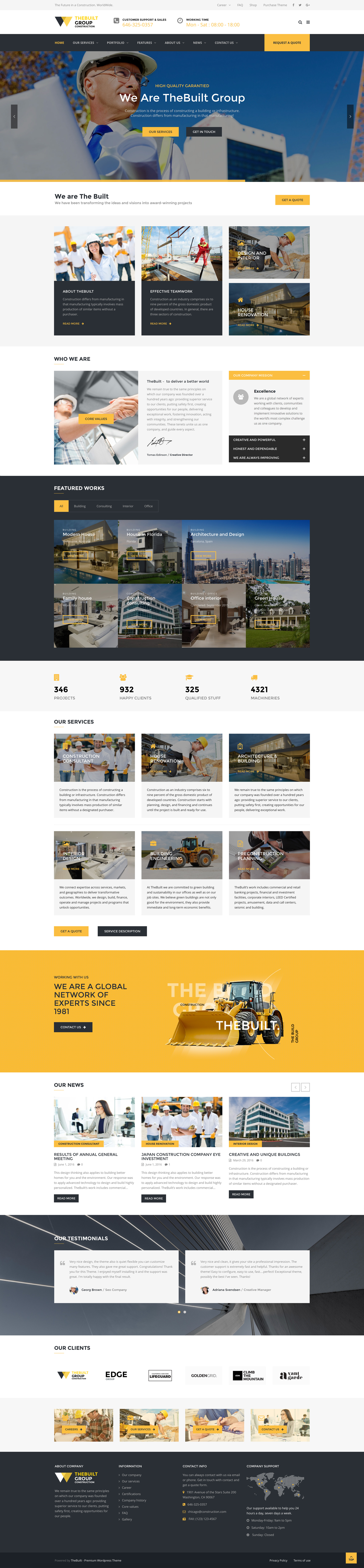 Thebuilt construction architecture building business for Architecture wordpress