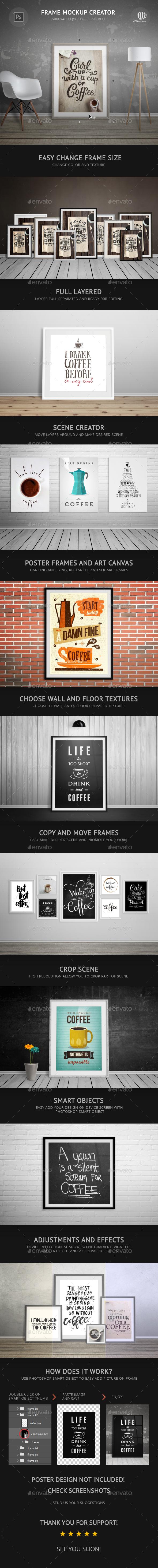 Frame Mockup Creator - Posters Print