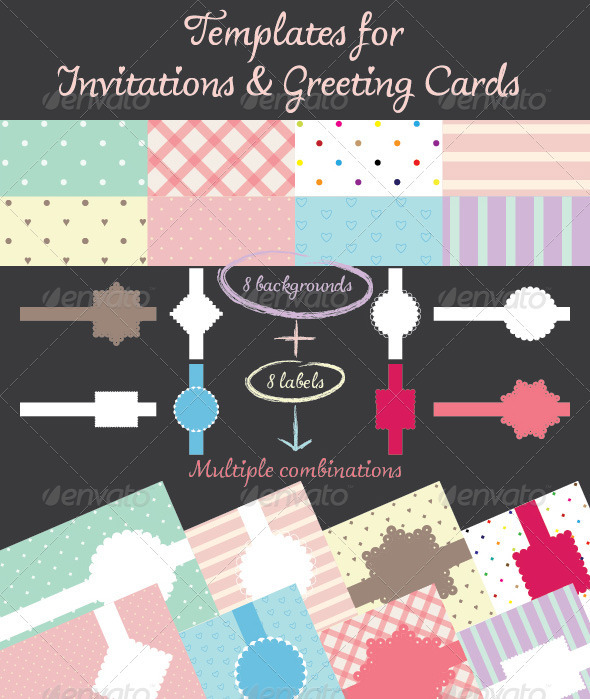 Templates for Invitations & Greeting Cards - Backgrounds Decorative