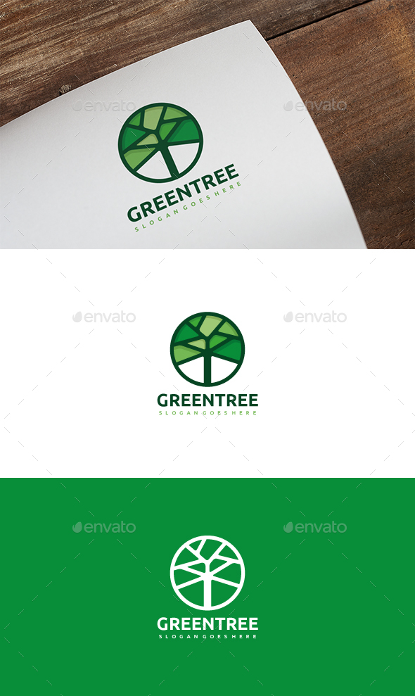 GraphicRiver Green Tree Logo 20404904