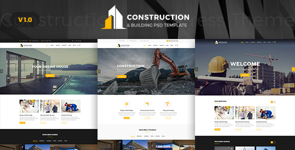 Contruction - Construction PSD Template - Business Corporate