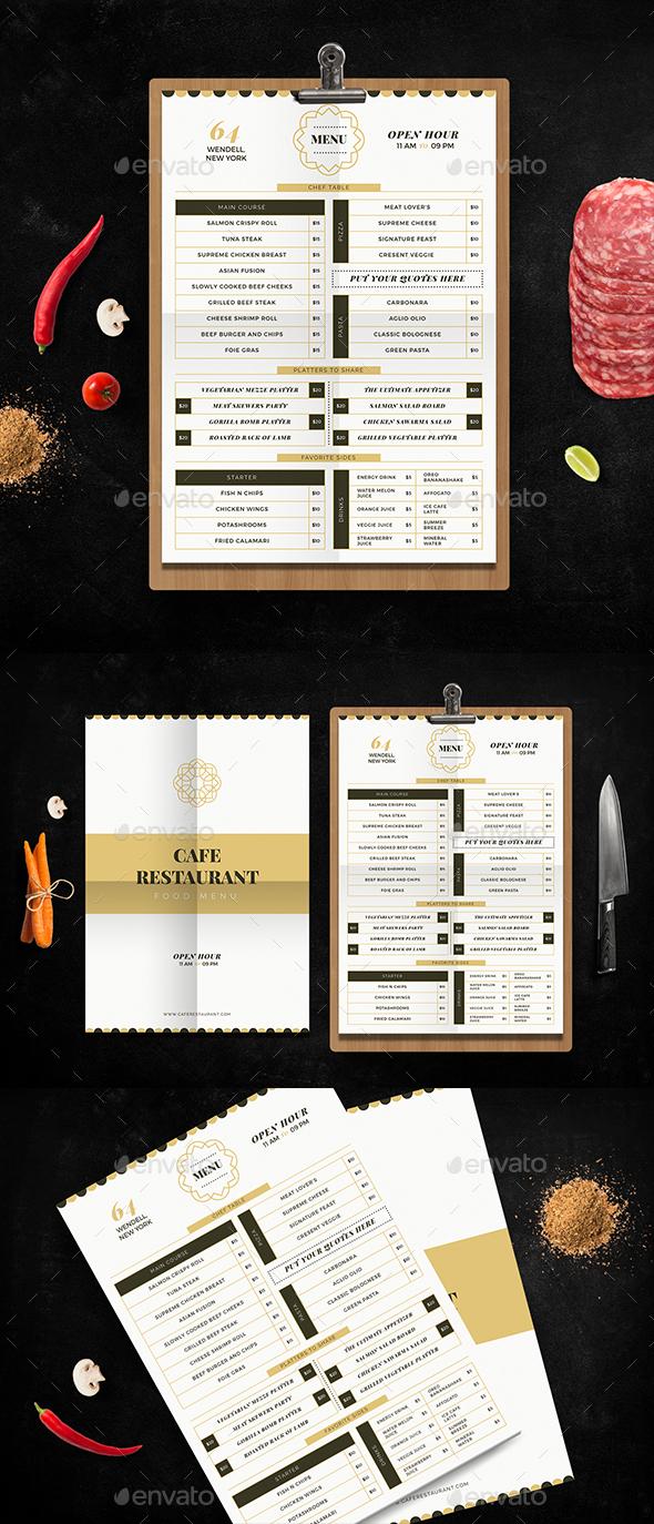 Modern Food Menu - Food Menus Print Templates