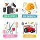 Vector Professions Tools and Items Set