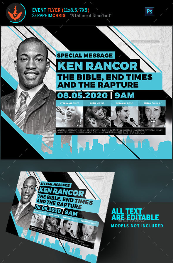 Sermon Title Church Flyer Template - Church Flyers