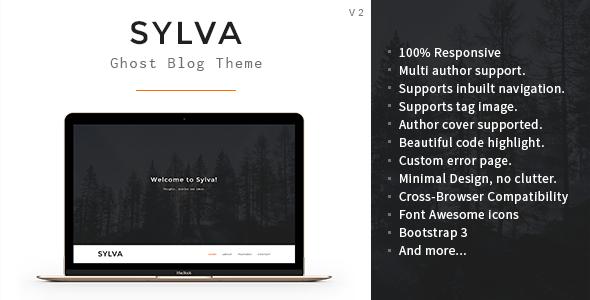 Sylva - Responsive Minimal Ghost Theme