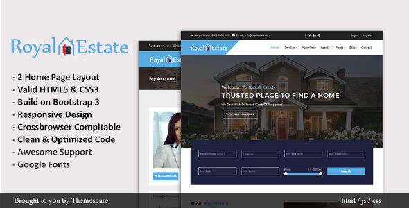 Royal Estate || Real Estate HTML5 Template - Corporate Site Templates