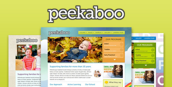 Peekaboo - Children Theme HTML Template - Children Retail