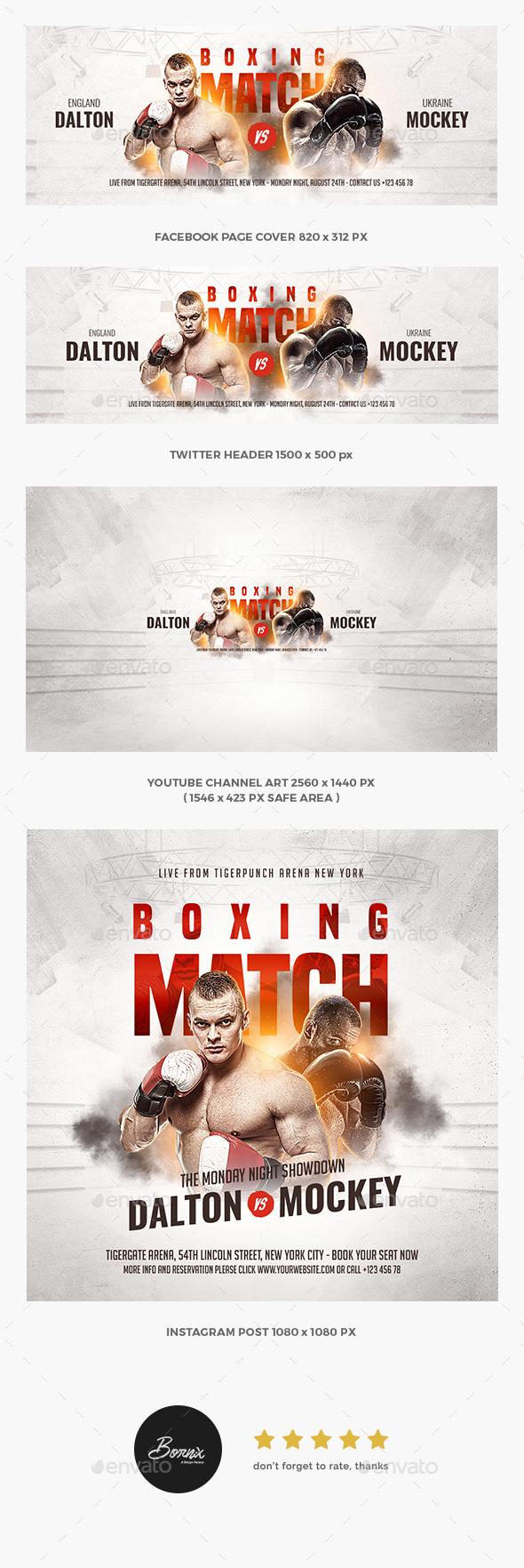 Boxing Match Social Media Template