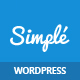 Simple | One Page Bootstrap WordPress Theme