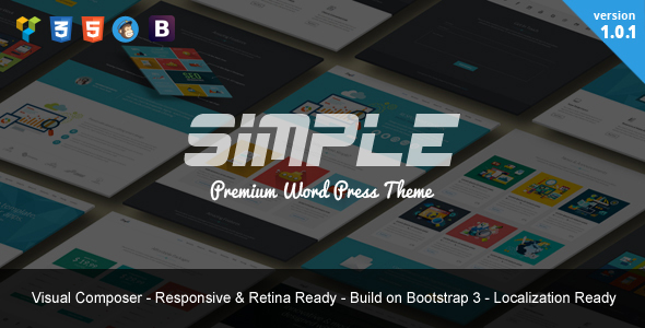 Simple | One Page Bootstrap WordPress Theme - Marketing Corporate