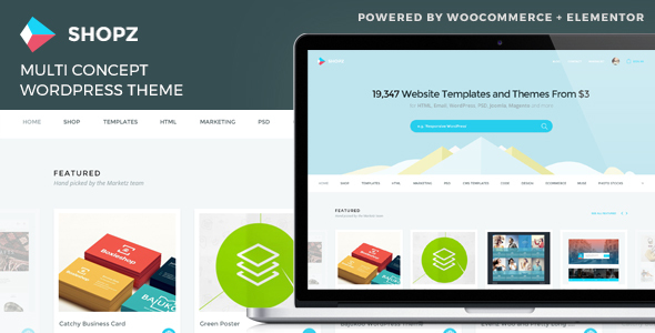 Shopz - eCommerce WordPress Theme