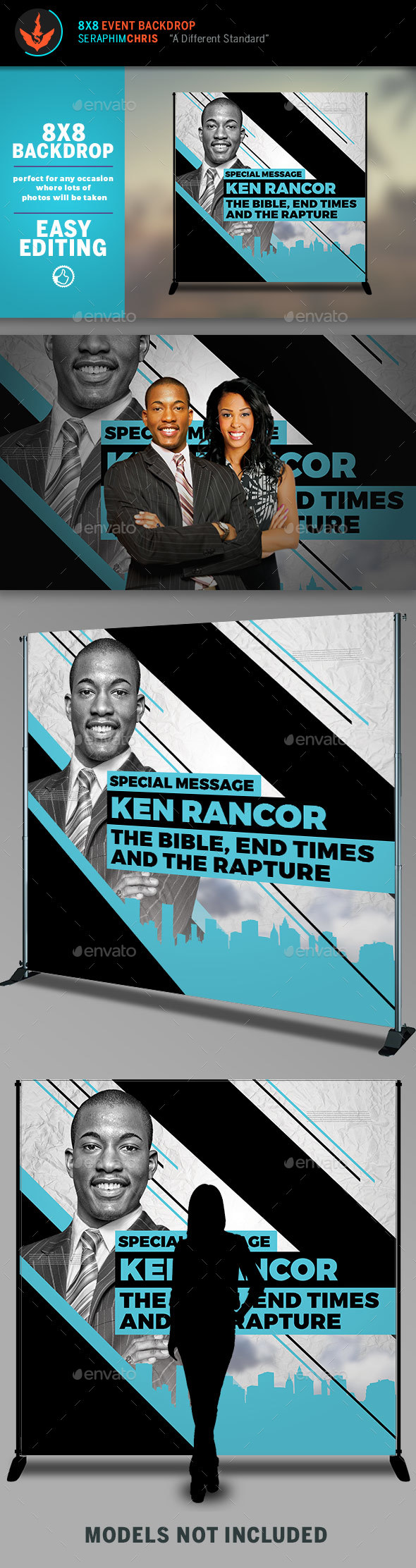 Sermon Title 8x8 Backdrop Template - Signage Print Templates