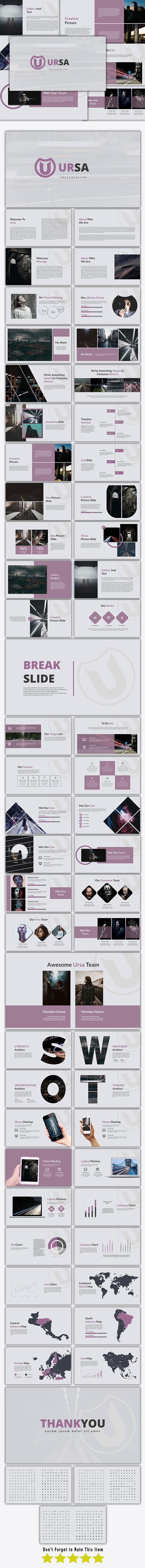 Ursa - Keynote Template - Keynote Templates Presentation Templates